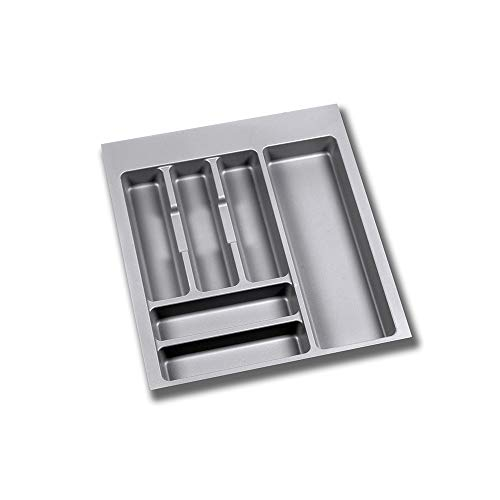 EMUCA - Cubertero Recortable para cajón, Bandeja para Cubiertos cajón Ancho módulo 50cm