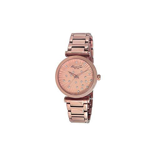 Kenneth Cole Reloj analogico para Mujer de Cuarzo con Correa en Acero Inoxidable IKC0019 (Reloj)