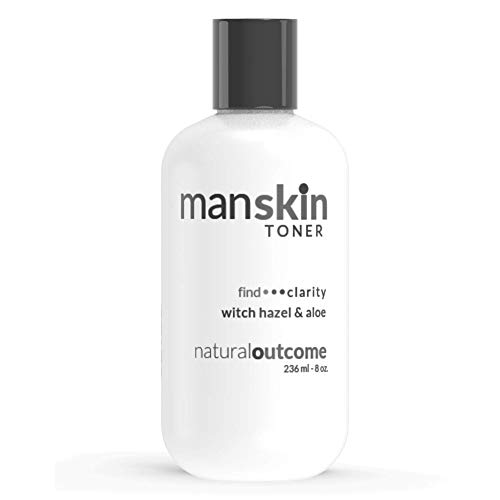 Mens Face Toner by Natural Outcome Skincare, Witch Hazel Alcohol Free Pore Minimizing Facial Astringent with Hydrating Aloe Vera for All Skin Types