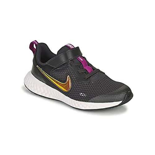 Nike Revolution 5 Se Power - Scarpe Sportive da Bambino, (off Noir Multi Color Red Plum White), 33 EU