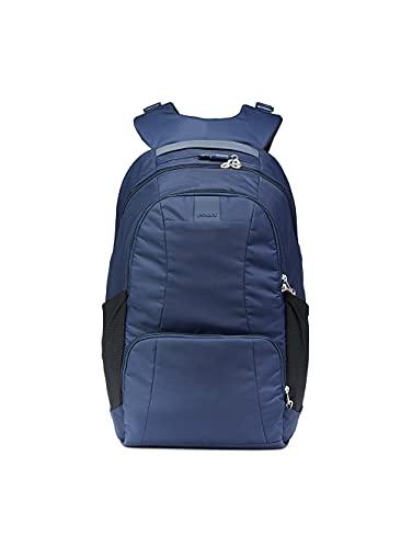 Pacsafe Metrosafe LS450 großer Nylon Rucksack mit Anti-Diebstahl Details für Damen und Herren, Daypack mit Diebstahlschutz, Tasche mit Sicherheits-Features, 25 L, Blau/Deep Navy