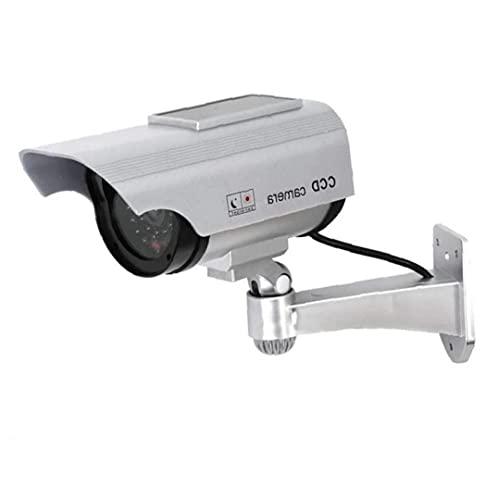 Überwachungs- und Anzeigegeräte-Tuimiyisou-Solar-Dummy-Kamera-Sicherheit wasserdichte gefälschte LED-Rotlicht-Kamera Silber