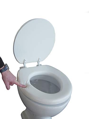 ADOB, Sedile copri WC morbido, imbottito, colore: Bianco