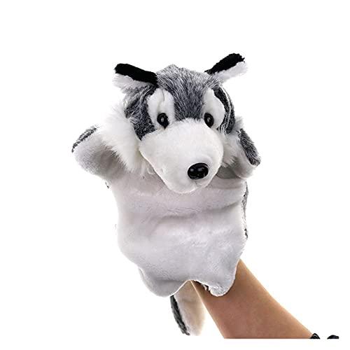 Fuxwlgs títeres de Dedo Mano títere de Lobo muñecas Dibujos Animados Animal Muñeca Muñeca Educación temprana Aprendizaje Niños Juguetes Juguetes Marionetas Pupones for Contar Historias (Color : Gray)