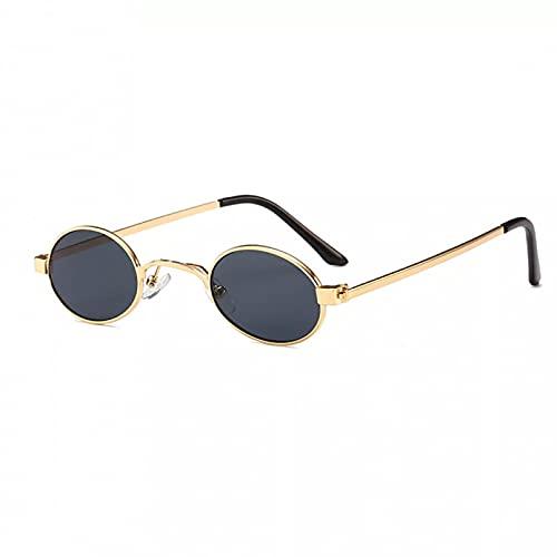 LUOXUEFEI Gafas De Sol Gafas De Sol Pequeñas Ovaladas Para Hombre Redondas Unisex Dorado Negro Rojo Gafas De Sol Pequeñas Para Mujer Redondas
