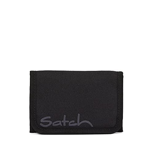 Satch Kunststoff-Geldbörse, 8,5 x 13 x 2 cm (H/B/T) Kinder-Zubehör für die Schule (SAT-WAL-001), Schwarz, Nicht zutreffend.