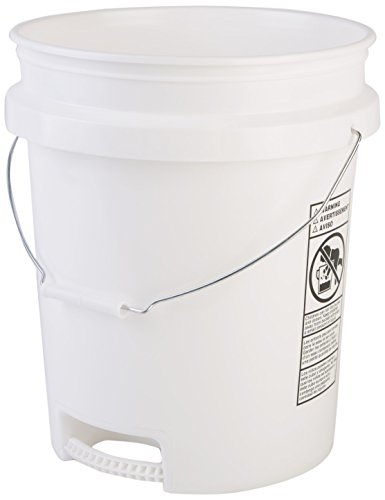 Hudson Exchange 5 Gallon Bucket with Bottom Grip Handle,