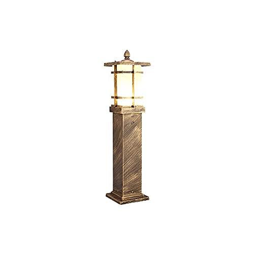 ZHZHUANG Luz de Poste Led Al Aire Libre con la Base de Montaje Del Muelle 15.5 Cm, Linterna de Poste Impermeable Lámpara Led, Postes Cabeza de Linterna con Vidrio de Aluminio para Jardín, Patio (Marr
