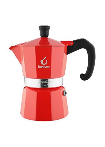 Forever Espressokocher Miss Moka La Rossa 2 Tassen
