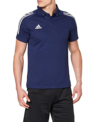 adidas Herren Condivo 20 Poloshirt, Navy Blue/White, XL