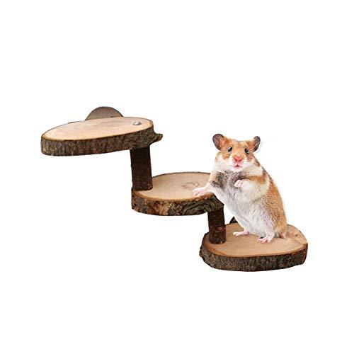 Escalera de hámster de madera para jaula Escalera de hámster muro de escalada escalera de roedor juguete rampa de madera escalera escaleras puente accesorios para jaula de animales pequeños, hámster