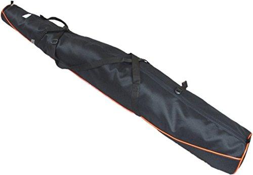 Aves24 SKITASCHE Skisack 150 160 170 180 und 190 cm für Ski mit Stöcke mit/ohne Skischuhtasche reißfeste Skibag (150cm, SCHWARZ ohne Schuhtasche)