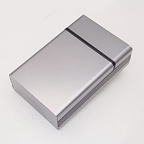 MZXUN 1 caja portátil de aluminio ligero para cigarrillos, caja de almacenamiento para tabaco, contenedor de tabaco, caja de cigarrillos, color plateado