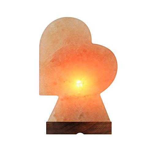 Lampada Sale Himalayano Naturale 100% Riduce Stress Purifica L'aria Riduce Sintomi di...