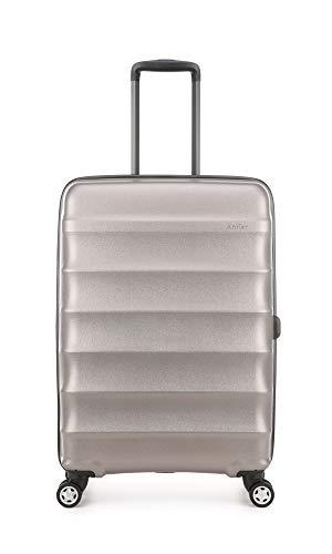 Antler Portobello Medium Hard Shell Suitcase   Travel Case   Suitcases Medium   Suitcases with Wheels   Hard Case   Spinner Luggage   Lightweight   Luggage Set   Hard Sided Suitcases