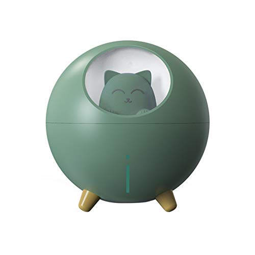 YCMY Household Aromatherapy Spray Desktop Air Humidifier Cute Pet Planet Cat LED Night Light Ultrasonic Aroma Essential Oil Diffuser