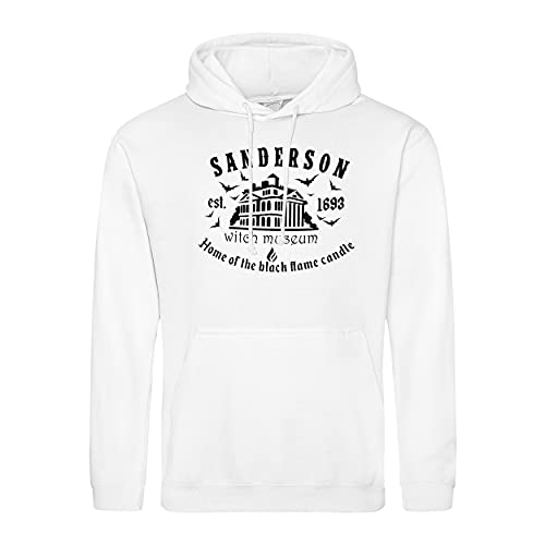 Sanderson Witch Museum Its All Just a Bunch of Hocus Pocus Sanderson Sisters Sudadera con Capucha Blanco Unisex Size XL