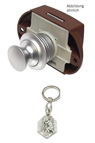 Zisa-Kombi Push Lock beidseitige Betätigung Silber (932988532715) mit Anhänger Herz Jesu 2,5cm