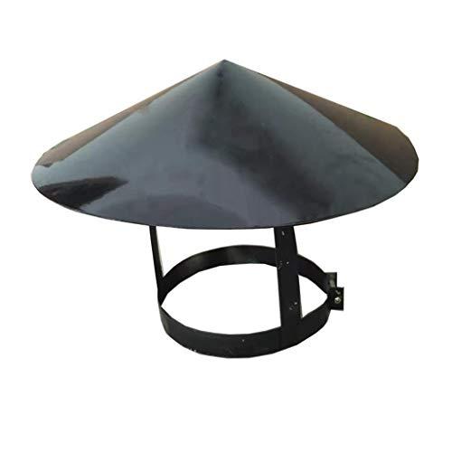 Chimney Cowl in Acciaio Inox Impermeabile Rotonda Air Vent Cappuccio cap Roof Vent Copertura Aria condizionata Sistema di Ventilazione (Size : 80mm)