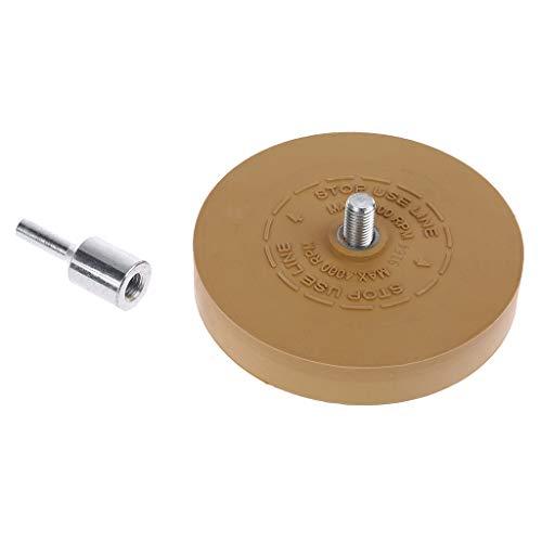 Gummetje wiel pad met booradapter 88 mm polijstschijf 1/4