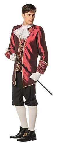 W5084A-58 Wein-rot Herren Marquisen Kostüm Barock Anzug Gr.58