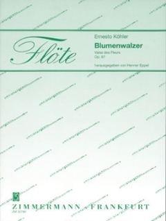 VALSE DES FLEURS OP 87 (BLUMENWALZER) - arrangiert für zwei Querflöten - Klavier [Noten / Sheetmusic] Komponist: KOEHLER ERNESTO