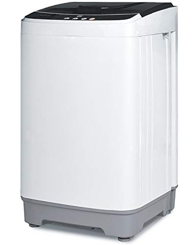 KUPPET Full-Automatic Washing Machine 13lbs Portable Compact 2 in 1 Laundry Washer with Drain Pump, 10 Programs 8 Water Level Selections with LED Display, Ideal for Dorm Apartment and Camping