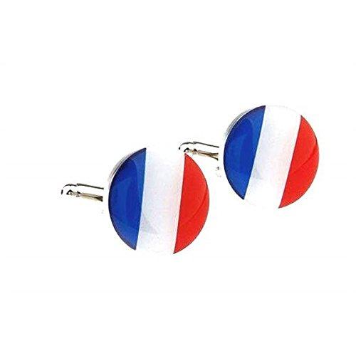 Bouton de manchette drapeau France