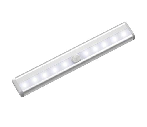 Pamura - Multizweck - LED Lichtleiste - Energiesparlampe - Schrankleuchte - Unterbauleuchte - Bewegungsmelder - batteriebetrieben - Montage ohne Bohren (6 LED (warmweiß))