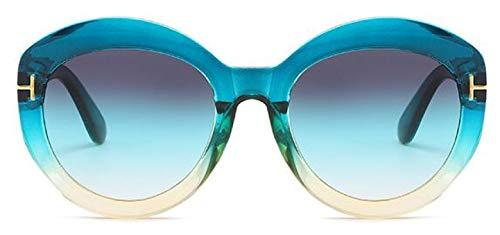 Gafas De Sol Clásicas para Mujer, Gafas De Sol De Gran Tamaño Vintage, Gafas De Sol De Diseñador De Lujo para Mujer, Uv400, Azul