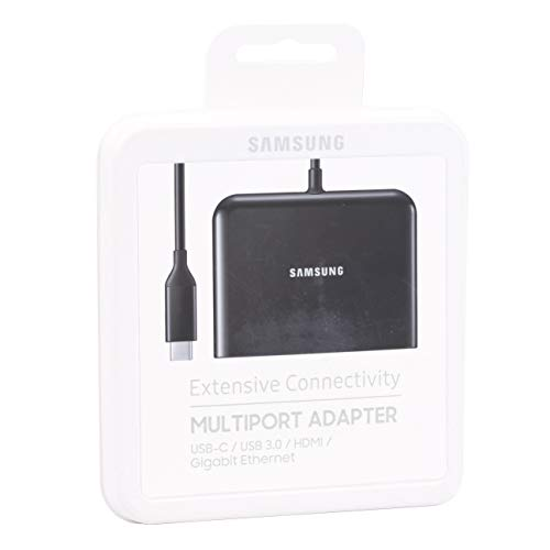 Samsung GIGABIT Multiport Adapter USB-c/Giga LAN RJ45/HDMI/USB 3.0 ee-p5000bbkgkr für Galaxy Book, Tab Pro S, Galaxy S8/S8 +, Galaxy Note 8