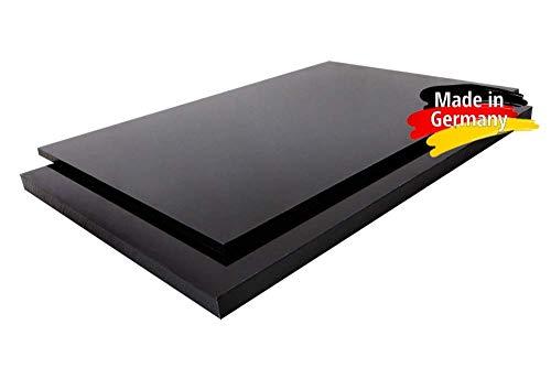 PE-HD Platte Zuschnitte | SCHWARZ | 2-15mm | VERSCHIEDENE FORMATE | Top Qualität (49 x 49cm, 10mm)