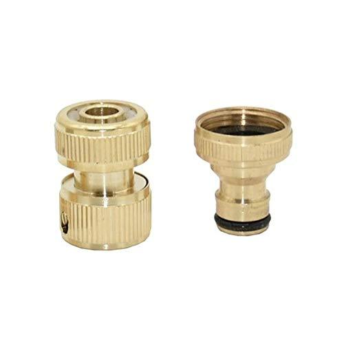 KQYAN 5 Conjunto de latón Mujer 3/4 a 1/2 3/4 Conector de Manguera de 16 mm 20 mm Manguera de jardín Latón Adaptador Adaptador Agua (Size : 1I2 Hose)
