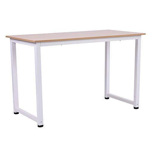 HOMCOM Schreibtisch Computertisch Bürotisch MDF Weiß 120 x 60 x 76 cm