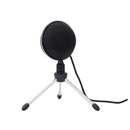 POWER BANKS Aufnahmemikrofon USB-Kondensator Broadcast-Mikrofon mit eingebauter Soundkarte Aufnahme Karaoke-Gesang