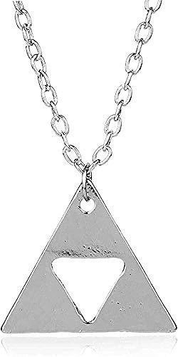ZJJLWL Co.,ltd Collar Collar Metal Triángulo Collares Pendientes Joyería Cadena de eslabones Largos Charm Collier Collar Colgante Regalo para Mujeres Hombres Niñas Niños