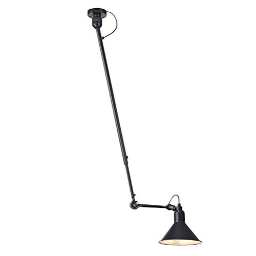Apliques de Pared de Brazo Largo Industrial Retro Lámpara de techo ajustable...