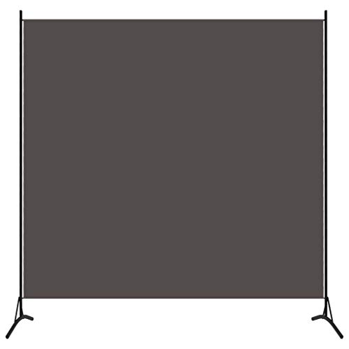 vidaXL Raumteiler Freistehend Trennwand Paravent Umkleide Sichtschutz Spanische Wand Raumtrenner 1-TLG. Anthrazit 175x180cm Eisen Stoff