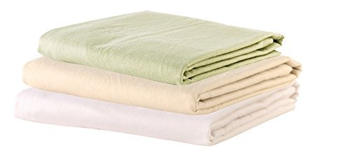 Deluxe Flannel Flat Massage Table Sheets by NRG - 100% Cotton Flannel Massage Linens - 160 GSM, 200 Thread Count - Soft Double Brushed Cotton - Oversized Coverage - 63