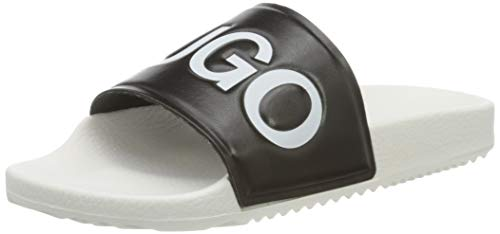 HUGO Damen Time Out Slide-AR Slipper, Black1, 35 EU