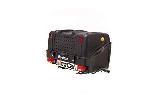 Towbox V1 Gepäckbox für Anhängerkupplung | Schwarz | Transportbox | Gepäckträger