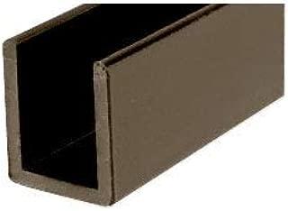 CRL Oil Rub Bronze Frameless Shower Door Aluminum Deep U-Channel for 3/8