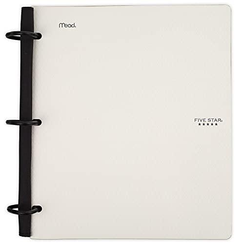 Five Star Caderno híbrido flexível, fichário de 2,5 cm, caderno e fichário tudo em um, branco (29328AE2)