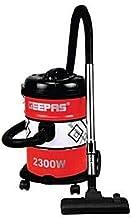 مكنسة كهربائية 2300 وات من جيباس- أحمر وأسود GVC2592