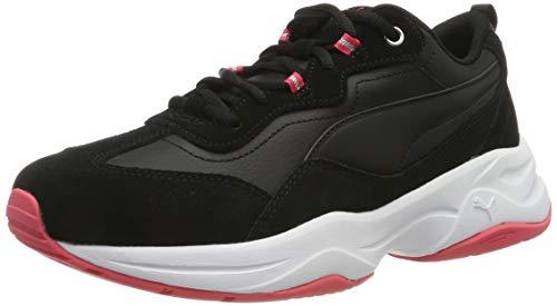 PUMA Damen Cilia Sd Sneaker, Schwarz(Puma Black-Calypso Coral-Puma Silver-Puma White 01), 42 EU