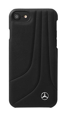 'Mercedes mehcp7lhlcabk Bow II Genuine Piel Hard Carcasa para Apple iPhone 7Plus, Color Negro
