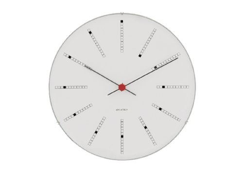Arne Jacobsen 43650 Wanduhr, Aluminium, weiß, 48cm