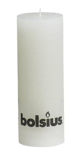 Rustic 103868000302 Stumpenkerze, Paraffinwachs, in Weiß