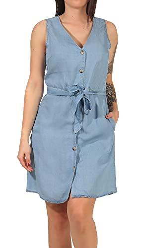 Vero Moda Vmviviana SL Short Dress Ga Noos Vestido, Mezclilla de Color Azul Claro, XL para Mujer