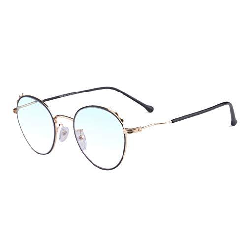 Silai ronde montuur leesbril retro breed en in de buurt dual use anti-blauw licht intelligente automatische zoom HD groot frame